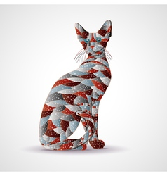 Abstract colorful cat vector image vector image