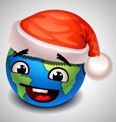 christmas earth vector image vector image