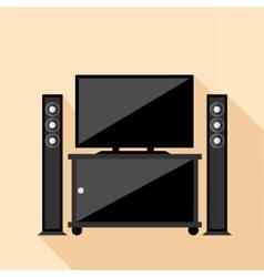 Digital hi-fi audio system with monitors vector image
