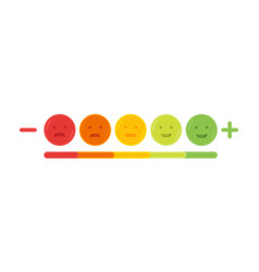 Feedback emoticon emoji smile icon vector