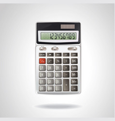 realistic calculator isolated on white vector image