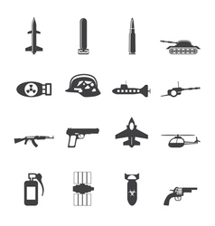 Simple weapon and war icons vector image
