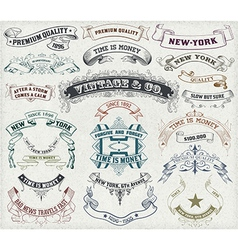 23 labels and banners vector