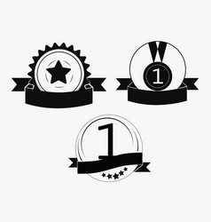 a sign premium class medal with star vector image