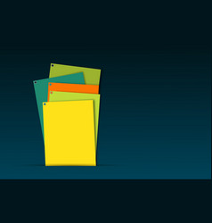 Abstract business cards spread out randomly on a vector