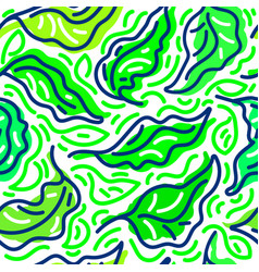 abstract foliage seamless exotic pattern vector image