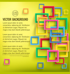 abstract geometric bright template vector image