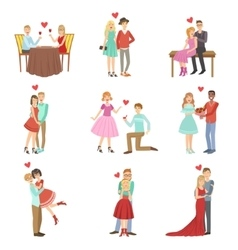 Adult Couples On A Date vector