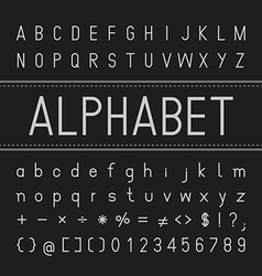 Alphabet Font Design vector