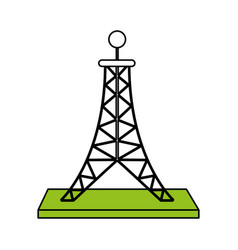 antenna telecommunication icon image vector image