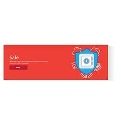 banner safe vector image