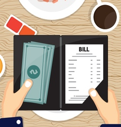 Bill Pay with cash vector image