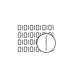 binary code warning icon vector image
