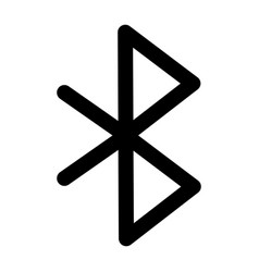 Bluetooth user interface isolated icon vector