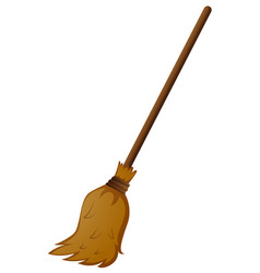 broom with wooden stick vector image