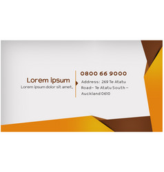 Business card design layout vector