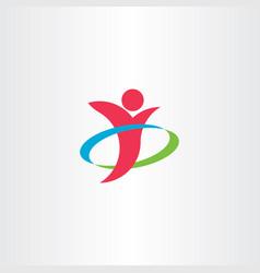 Business man winner logo icon symbol element vector