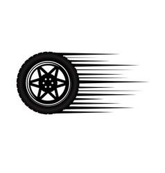 car wheel move vector image