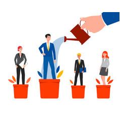career success and growth - cartoon business vector image