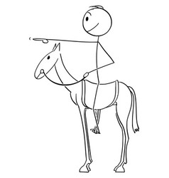 cartoon man or businessman sitting or riding vector image