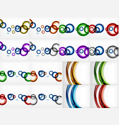 circle swirl banners backgrounds vector image