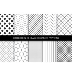 collection seamless geometric minimalistic vector image