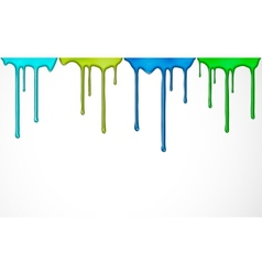 Colorful paint drip vector