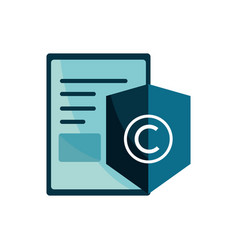Content protection property intellectual copyright vector