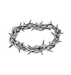 Crown of thorns jesus christ monochrome vector