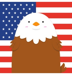 Cute big fat eagle vector
