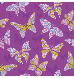 Decorative flying butterfly vector image