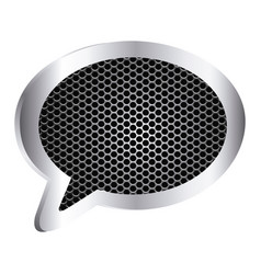 dialog callout box with grill perforated frame vector image