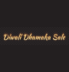 Diwali dhamaka sale text banner vector