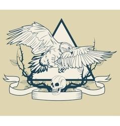 Eagle tattoo art design vector