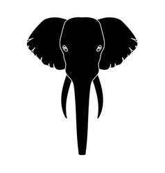 Elephant icon in black style isolated on white vector