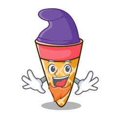 Elf ice cream tone character cartoon vector