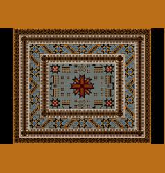 Ethnic carpet with oriental vintage stylized anima vector