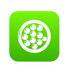 Face powder icon green vector