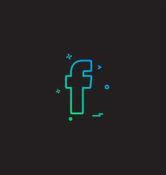 facebook social icon design vector image