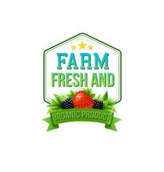Farm Fresh and Organic Product vector image