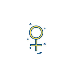 female girl user icon desige vector image