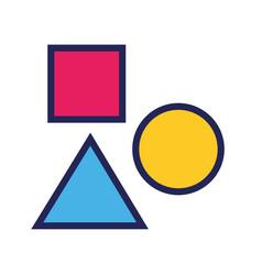 Figures geometrics designer line and fill style vector