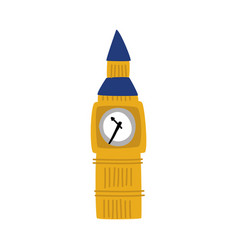 Flat big ben tower united kingdom icon vector