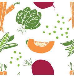 food sweet pepper and beetroot seamless pattern vector image