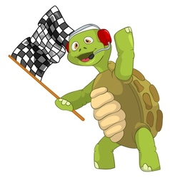 Funny Turtle Race Finish vector image