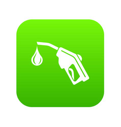 gas pistol icon green vector image