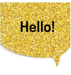 Gold speech bubble vector