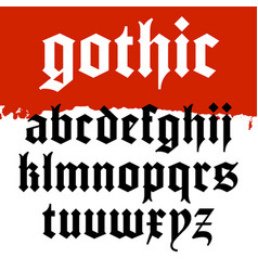 Gothic font 001 vector
