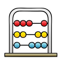 Gradient shaded cartoon maths abacus vector