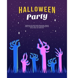 Halloween Party Flyer or Poster Template with vector